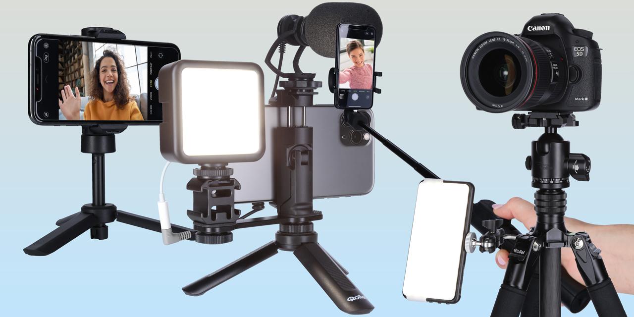 Rollei bringt Smartphone-Zubehör für YouTuber, Blogger und Content-Creator