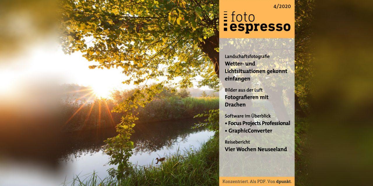 Gratismagazin: fotoespresso 4/2020 steht zum Download bereit