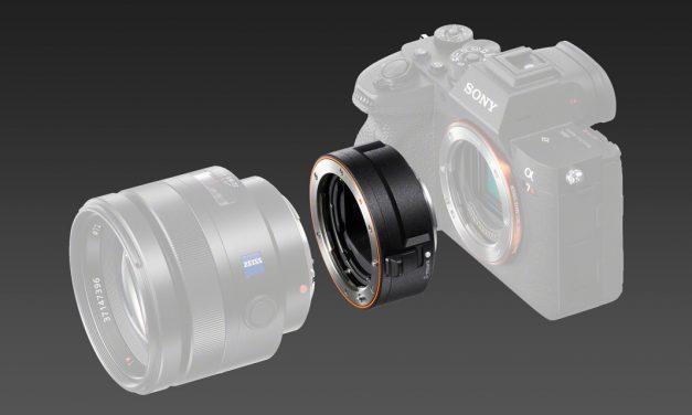 Neu von Sony: Adapter LA-EA5 für A-Mount-Objektive an E-Mount mit verbesserten AF-Funktionen
