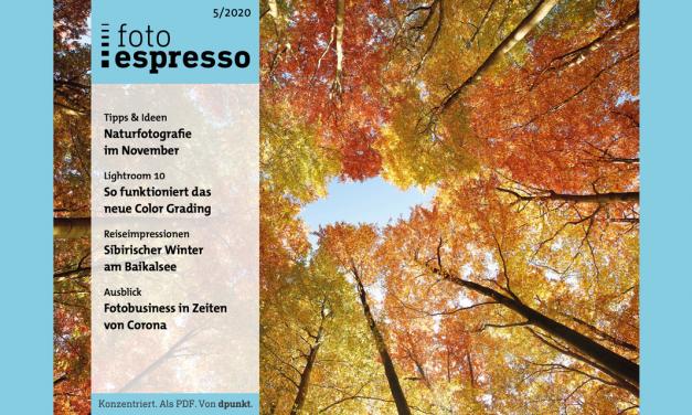 Gratismagazin: fotoespresso 5/2020 steht zum Download bereit