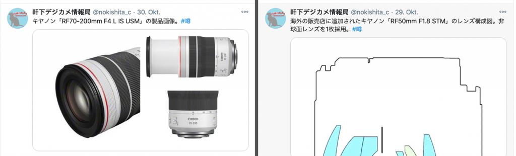 Canon-Objektiv-Gerüchte