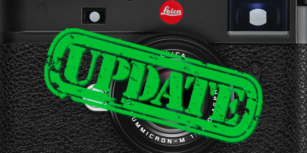 Leica M10-P, M10-R und M10 Monochrom: Neue Firmware korrigiert Verzerrungen