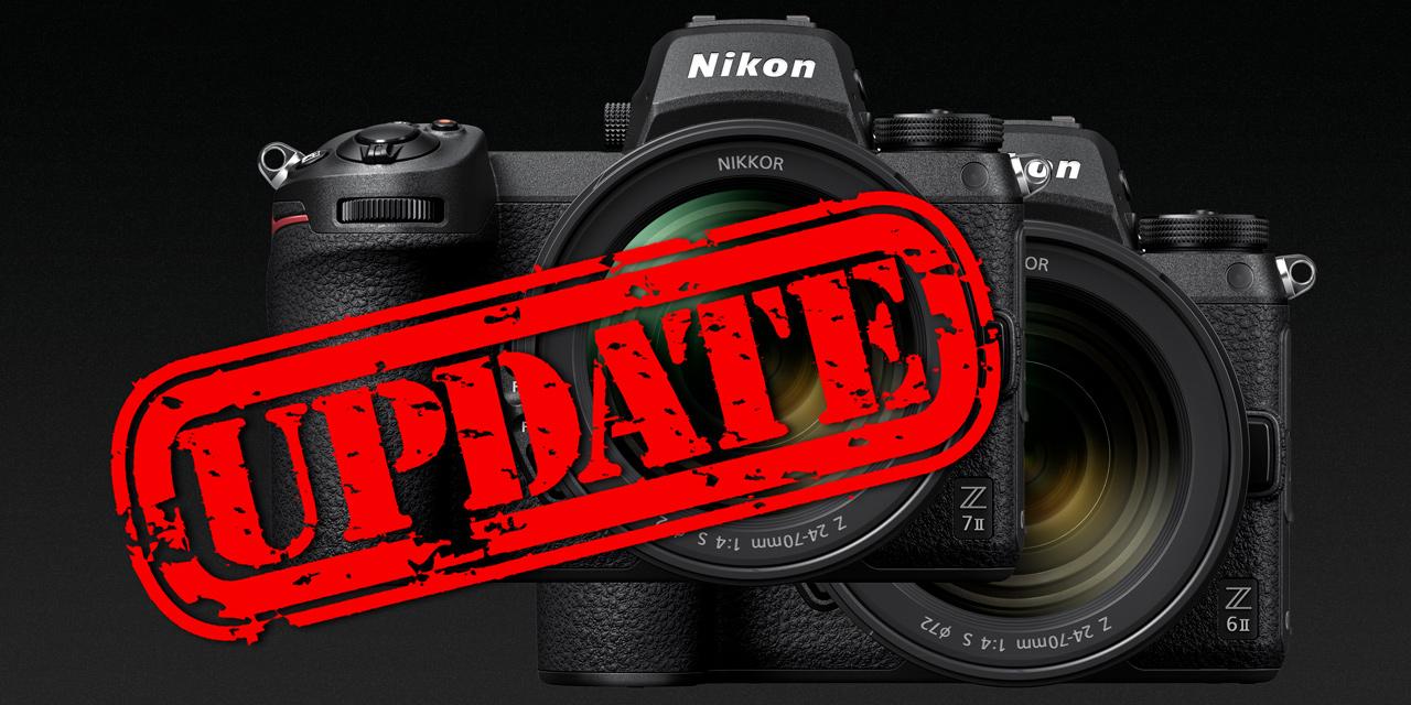 Neue Firmware für Nikon Z 6II und Z 7II angekündigt