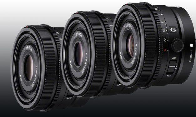 Sony stellt drei neue Festbrennweiten vor: 24mm, 40mm und 50mm