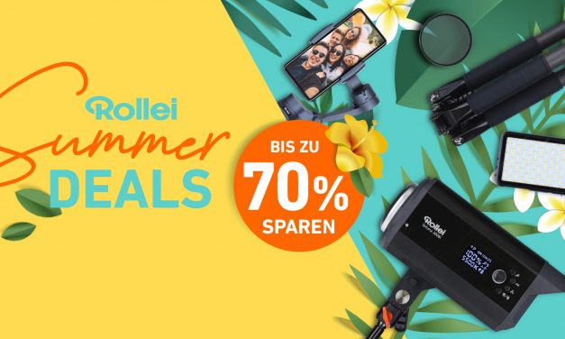 Rollei Summer Deals: Bis zu 70 % sparen bei Stativen, Filtern, Studio-Licht und noch mehr!
