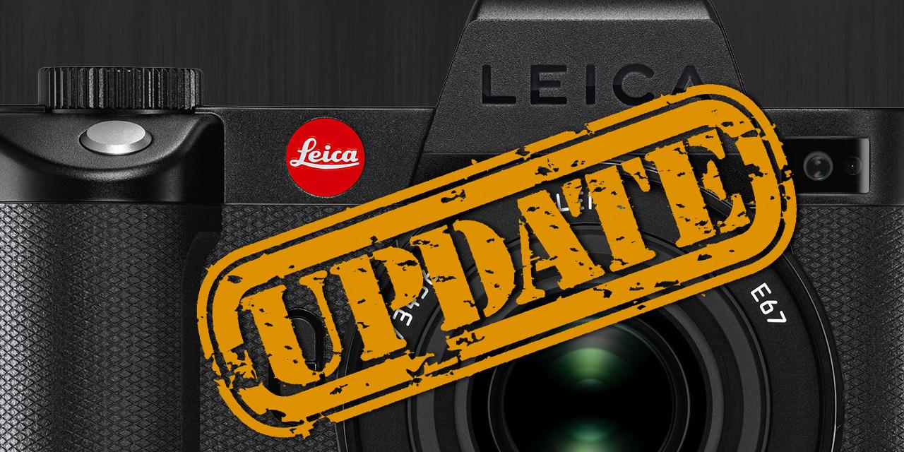 Leica SL2-S erhält Firmware Version 2.0