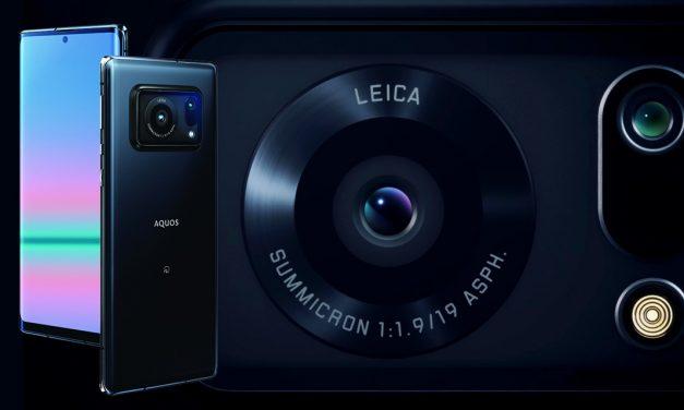 Leica leistet Entwicklungshilfe beim Smartphone Sharp Aquos R6 mit 1-Zoll-Sensor