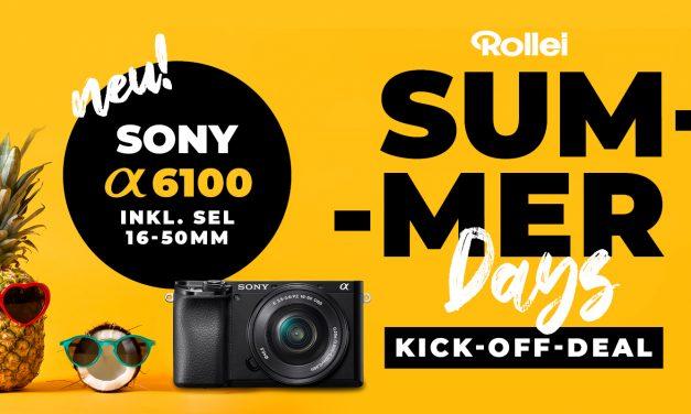 Hammerangebote von Rollei: Summer Days mit Sony Alpha 6100 Starter Kit und vielen weiterem Foto-Zubehör