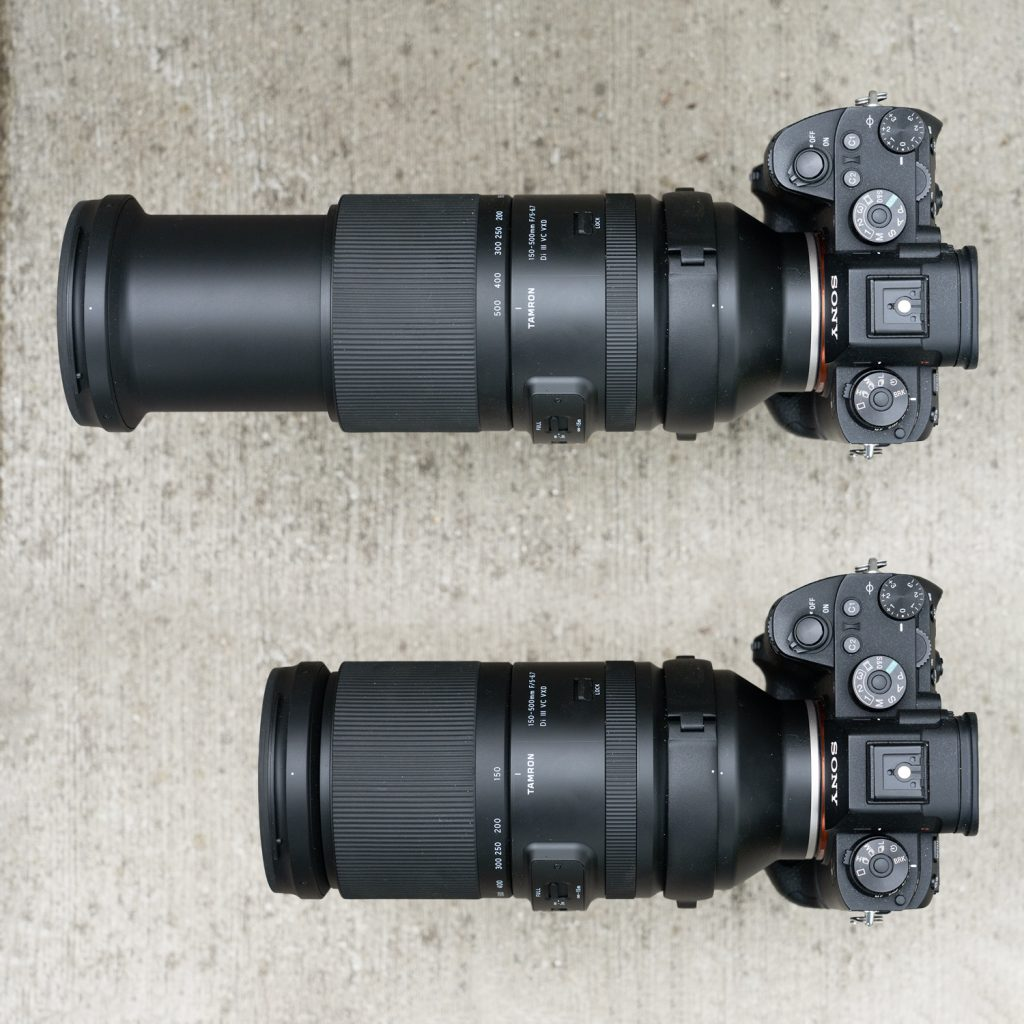 Tamron 150-500 Zoom-Länge