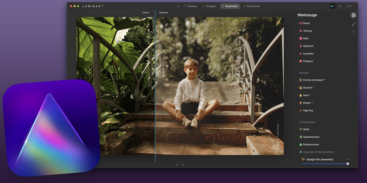 Für Luminar AI: Update 4 bringt neue Funktion Portrait Bokeh AI