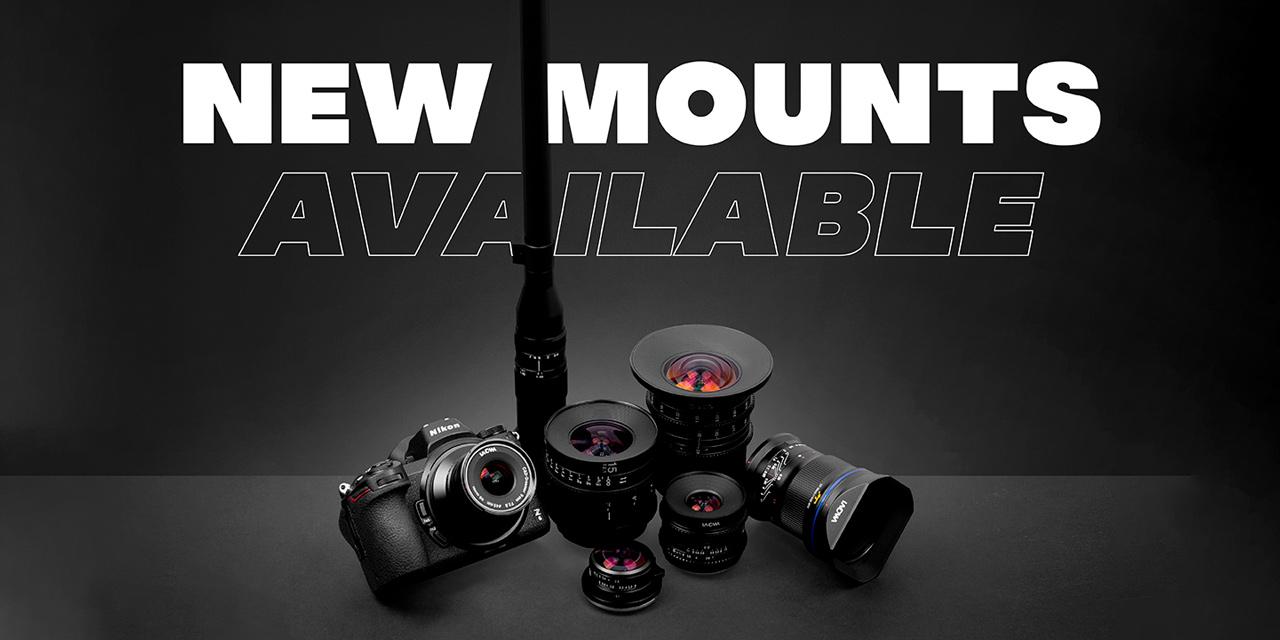 Laowa erweitert bestehende Objektiv-Palette um neue Kamera-Anschlüsse