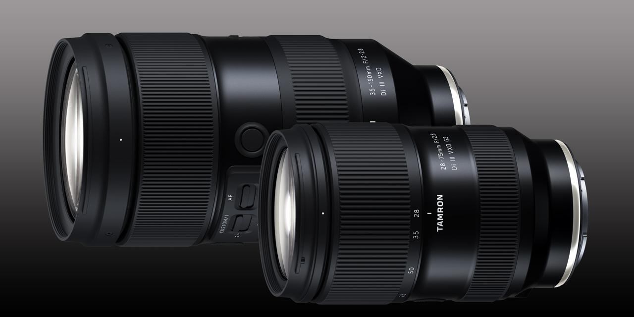Tamron bringt 35-150mm F/2-2.8 Di III VXD und verbessertes 28-75mm F/2.8 Di III VXD G2 für Sony E