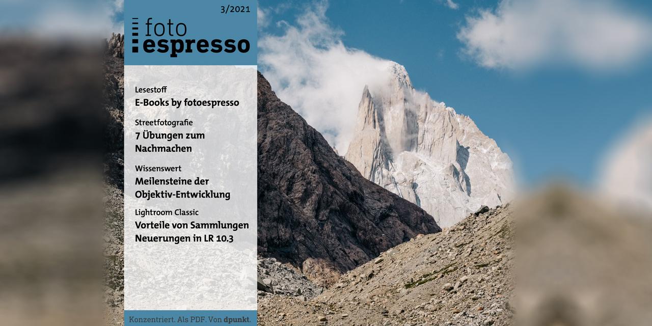 Gratis-Magazin fotoespresso 3/2021 steht zum Download bereit