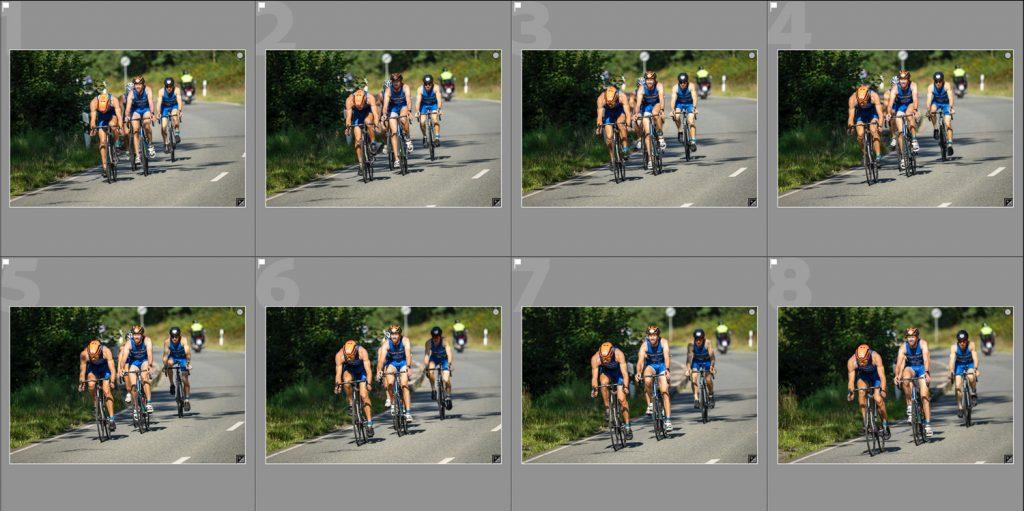 Bildserie-Rennradler