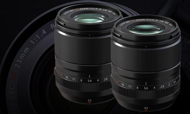 Fujifilm präsentiert XF23mmF1.4 R LM WR und XF33mmF1.4 R LM WR